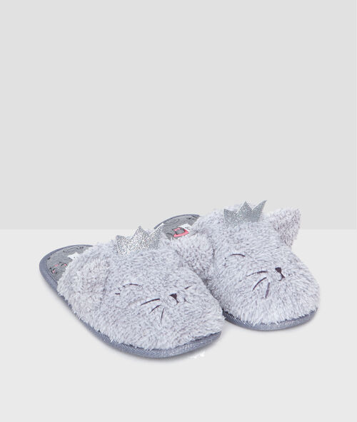 Zapatillas gatos peluche