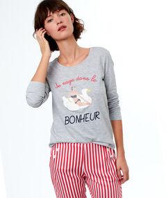 Camiseta manga larga nadadora c.gris.