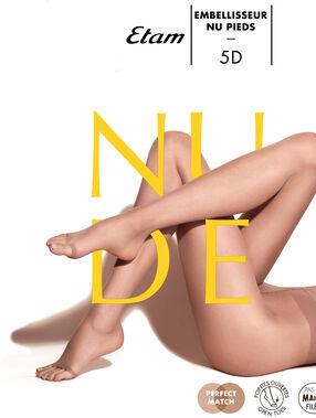 Medias finas con efecto piernas desnudas y abertura en los dedos de los pies cronce.