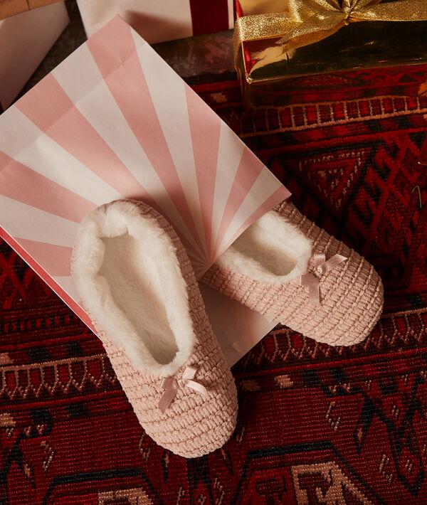 Zapatillas de punto interior forrado