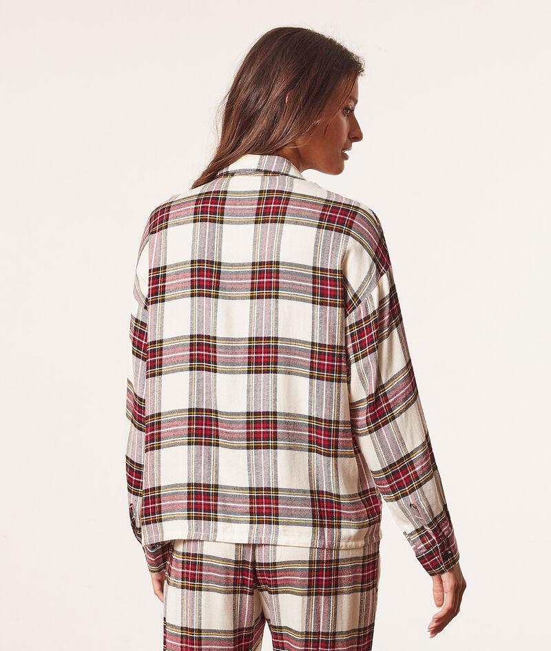 Camisa pijama estampado de cuadros;${refinementColor}