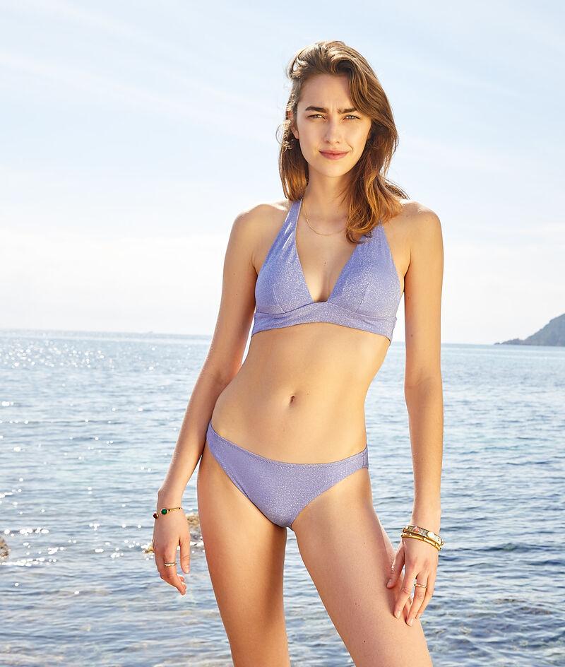 Sujetador bikini triángulo, tejido irisado;${refinementColor}