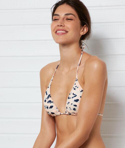 Sujetador bikini triangular estampado leopardo