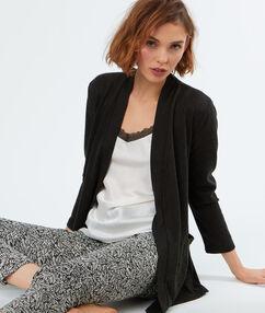 Pijama 3 prendas negro.