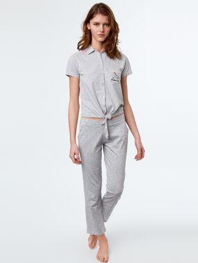 Camisa pijama estampado patines c.gris.