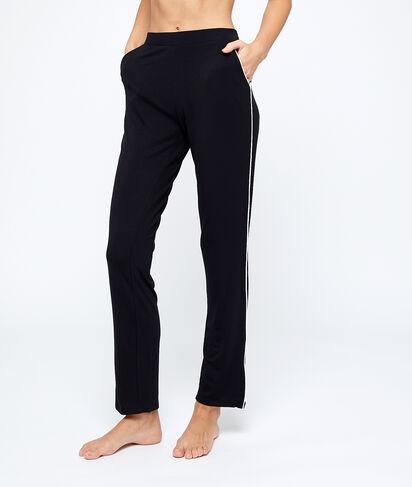 Pantalón pijama franjas laterales;${refinementColor}