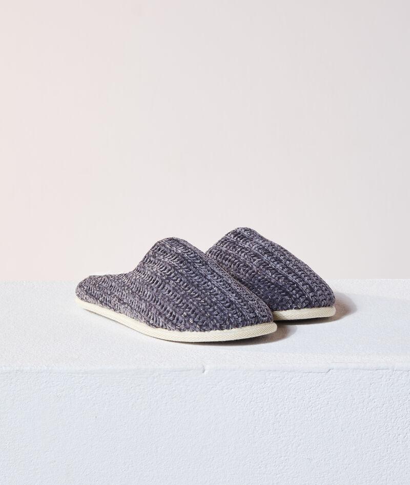 Zapatillas tricotadas con forro interior