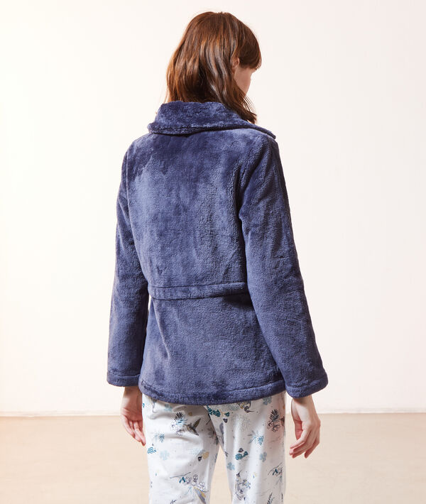 Chaqueta homewear ajustada en la cintura;${refinementColor}