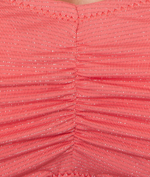 Sujetador bikini bandeau fibras metalizadas