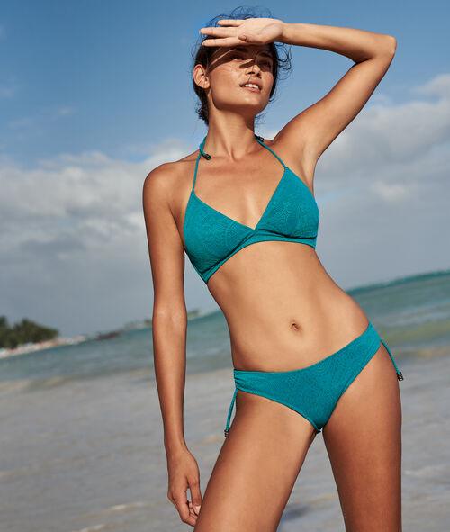 Sujetador bikini triangular estampado relieve