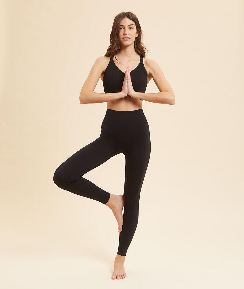 Top deportivo yoga, sujeción media;${refinementColor}