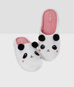 Zapatillas panda blanco.