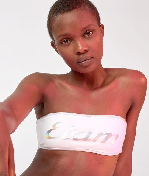 Sujetador bikini bandeau logo Etam