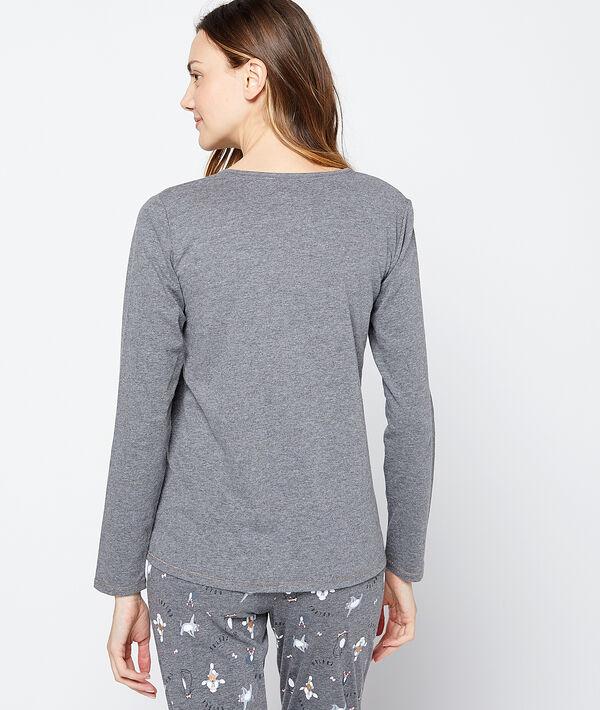 Camiseta manga larga caniche