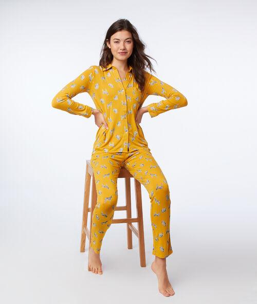 Camisa pijama estampado de cebras