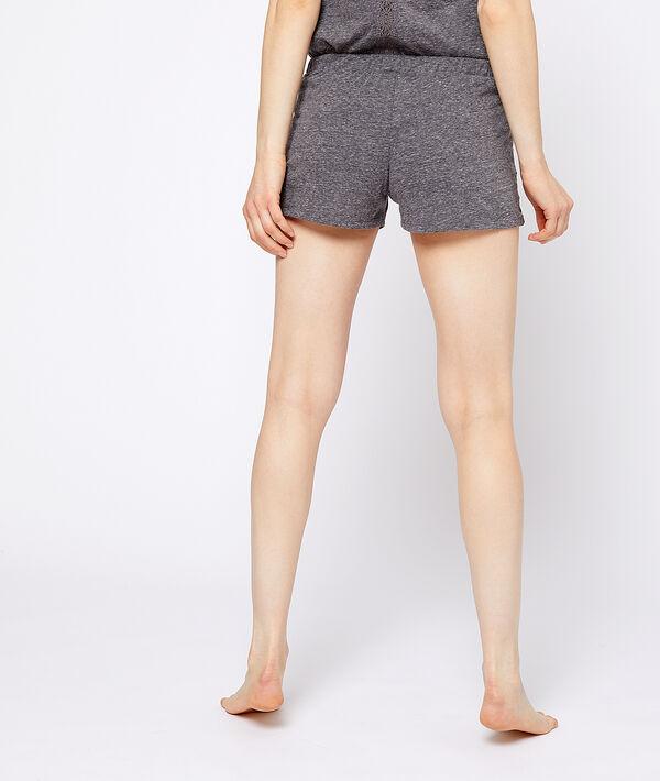Pantalón corto jaspeado