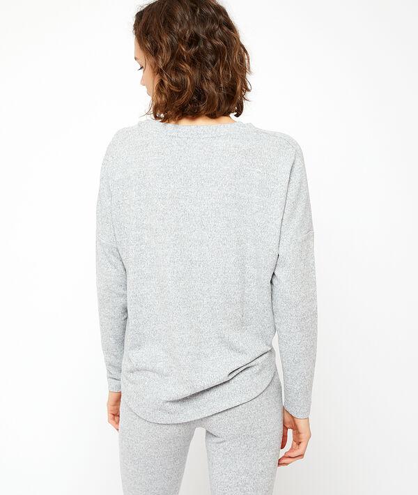 Camiseta con botones homewear;${refinementColor}
