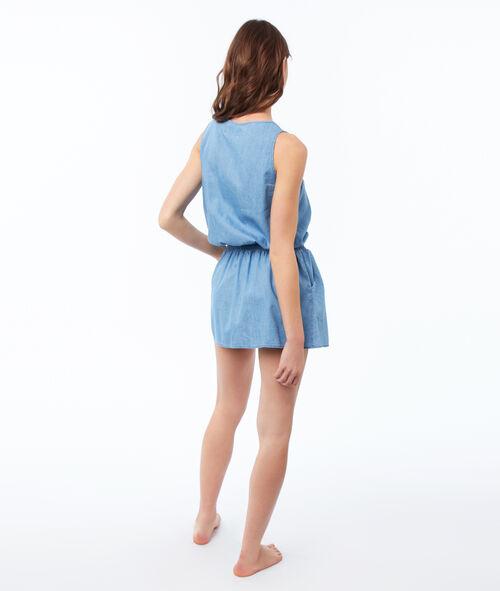 Camisón ajustado bolsillos laterales