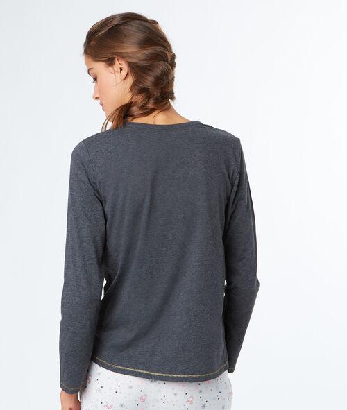 Camiseta manga larga con mensaje