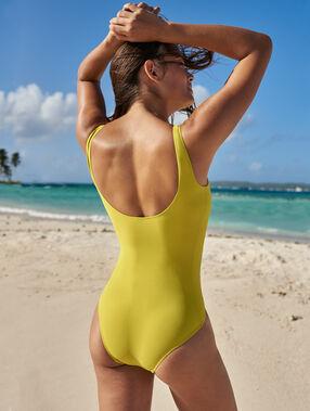 Bañador liso amarillo.