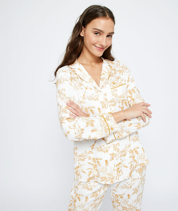Camisa pijama estampado selva;${refinementColor}