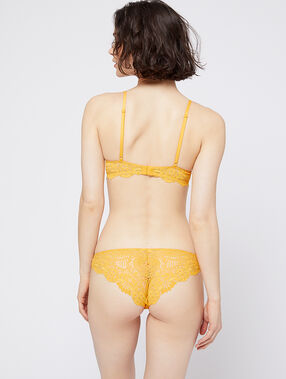 Hipster bi-matière jaune soleil.