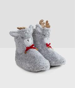 Zapatilla tipo botines llama c.gris.