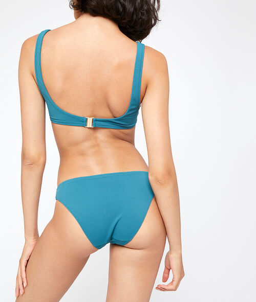 Sujetador bikini triangular suave relieve