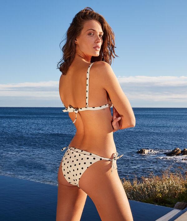 Top bikini recto sin aros, estampado lunares;${refinementColor}