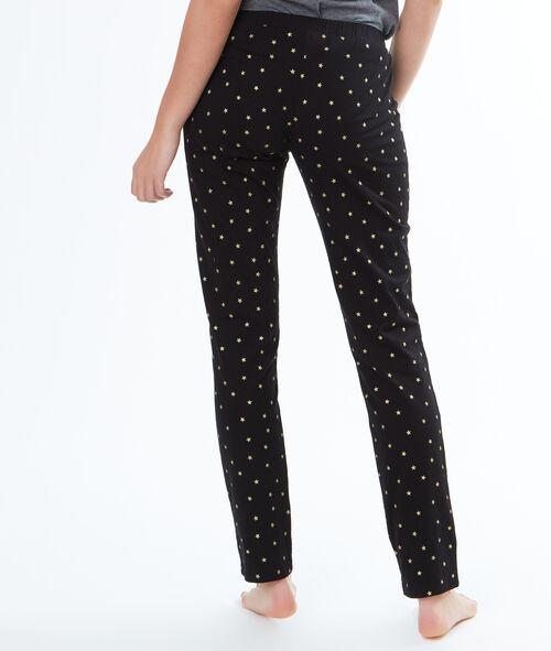 Pantalón largo estampado estrellas