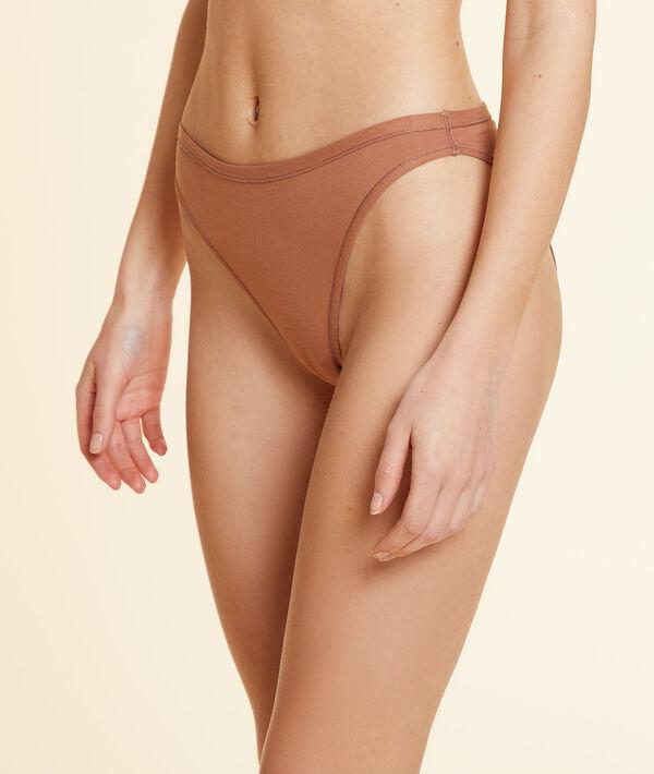 Culotte high leg en coton bio extensible;${refinementColor}