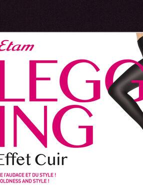 Leggings efecto piel negro.