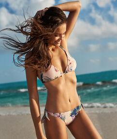 Braguita bikini brasileña estampado tropical multicolor.