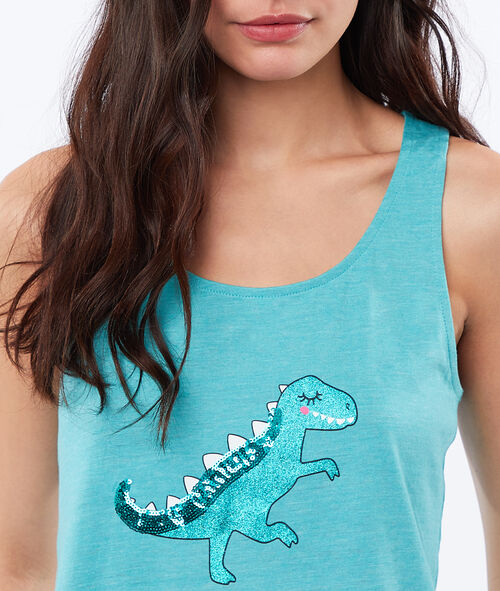 Top estampado dinosaurio