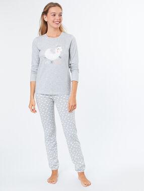 Camiseta manga larga borreguito c.gris.