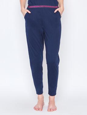 Pantalón pijama azul.