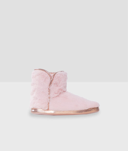 Zapatillas tipo botines con motivos dorados