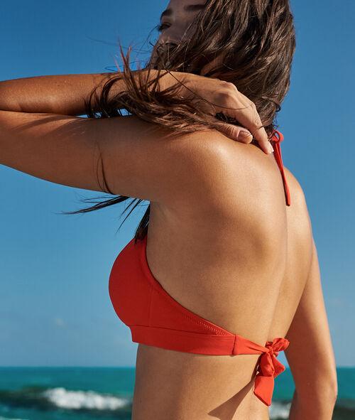 Sujetador bikini triangular cordones cruzados