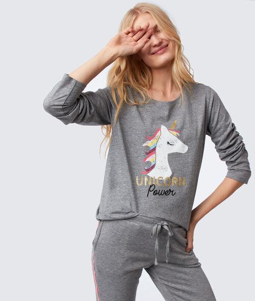 Camiseta manga larga unicornio