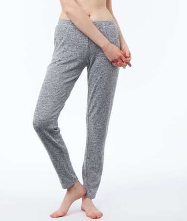 Pantalón largo jaspeado c.gris.