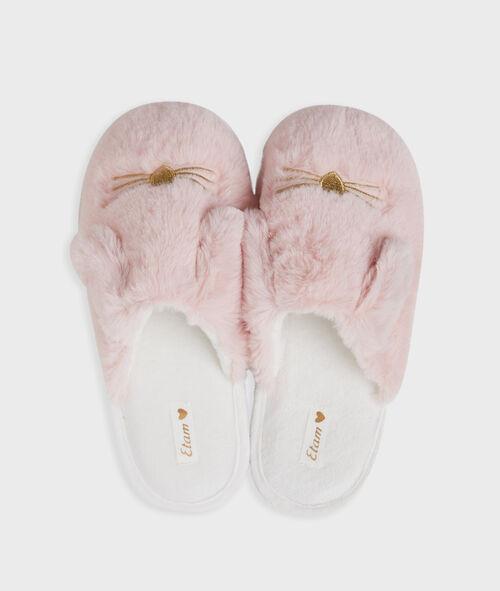 Zapatillas tejido peluche conejos
