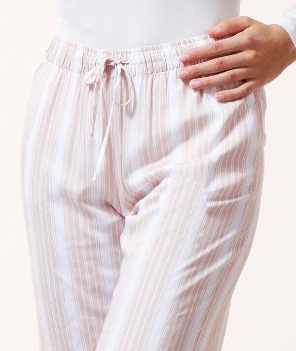 Pantalon à rayures;${refinementColor}