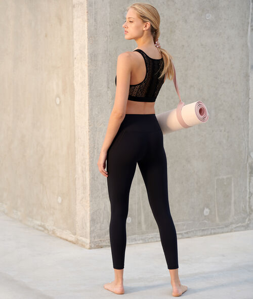 Leggings de yoga franjas laterales