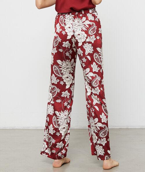 Pantalón holgado estampado floral