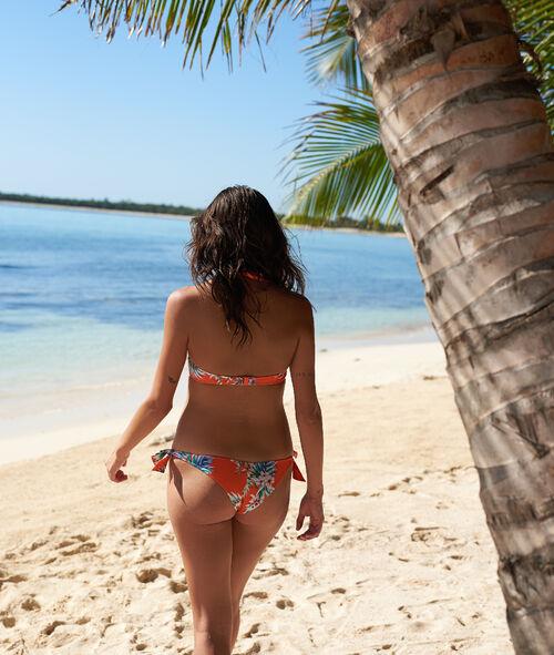 Braguita bikini multiposición estampado tropical