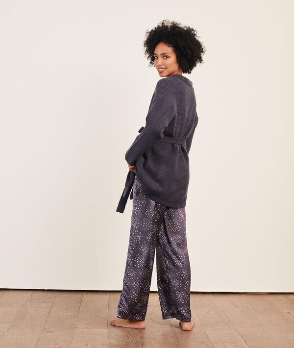 Pijama 3 piezas de punto y satén;${refinementColor}
