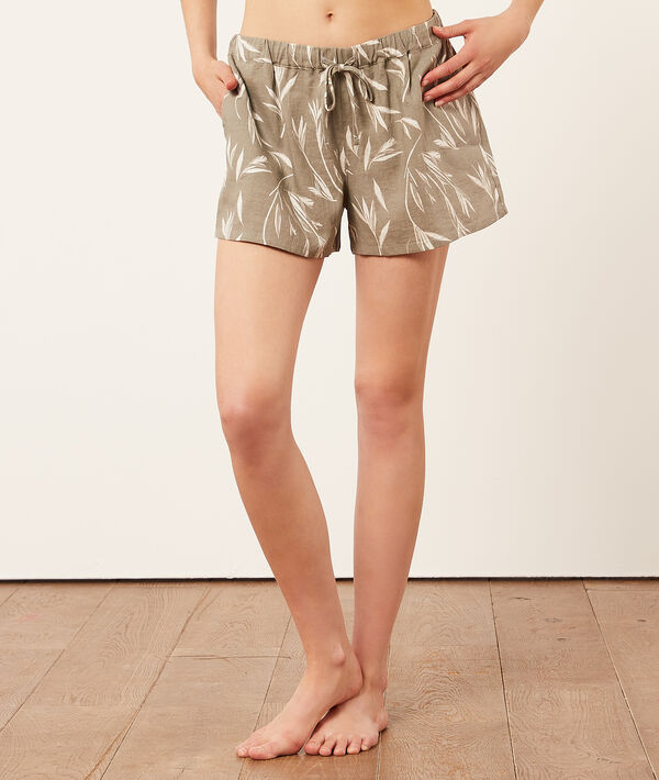 Pantalón corto estampado;${refinementColor}