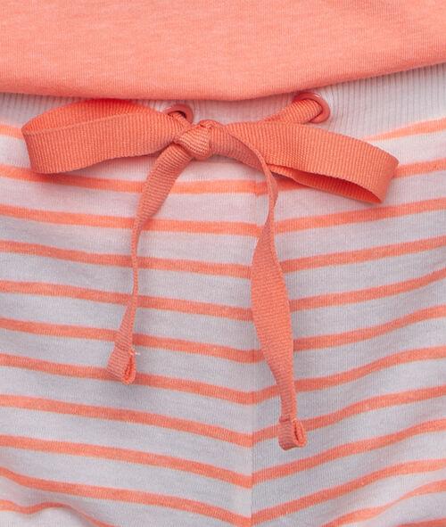 Pantalón corto estampado a rayas smiley