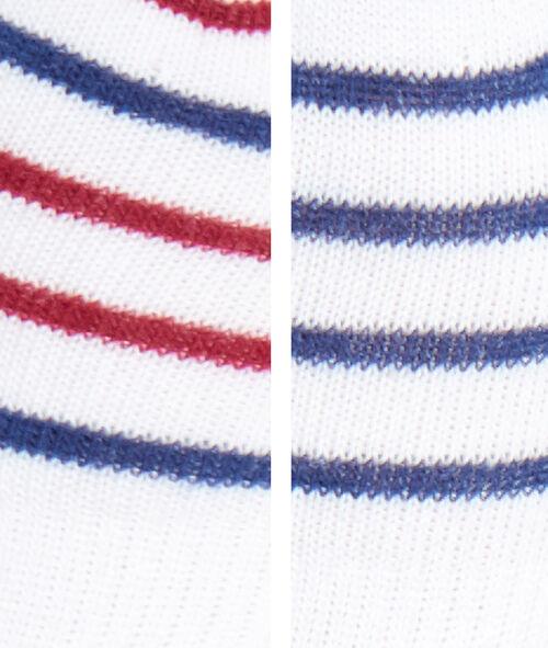 Calcetines tobilleros estampado a rayas