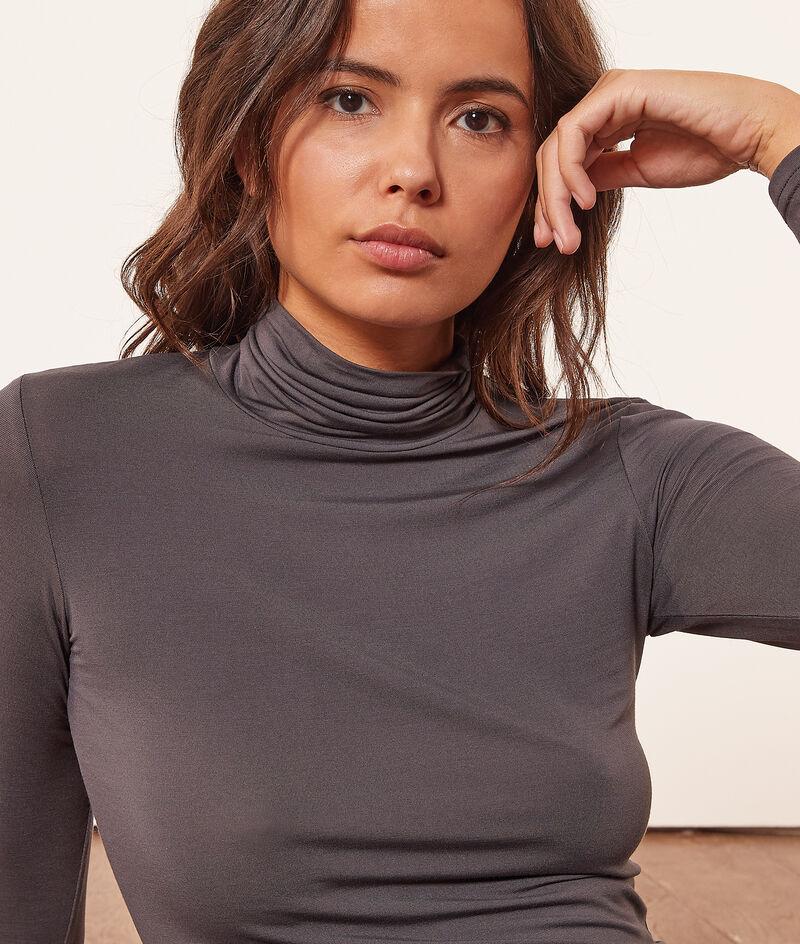 Camiseta cuello alto, tejido térmico;${refinementColor}